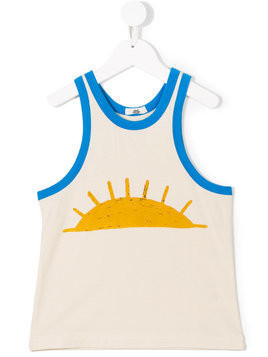 Bandy Button sun print tank top - Neutrals