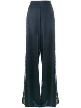 Lot78 line embroidered wide-leg trousers - Blue