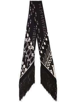 Rockins printed skinny silk scarf - Black