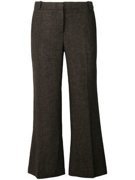 Kiltie super flare cropped trousers - Brown