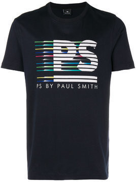 Ps By Paul Smith logo print T-shirt - Blue