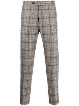 Berwich plaid tailored trousers - Brown