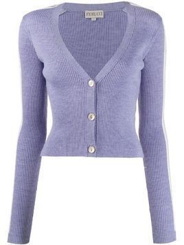 Fiorucci long-sleeve fitted cardigan - PURPLE