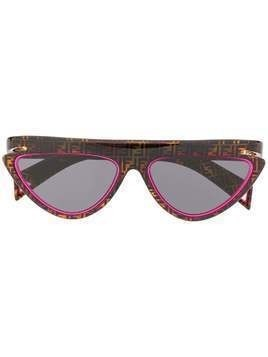Fendi Eyewear FFluo cat-eye frame sunglasses - Brown