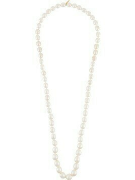 Chanel Pre-Owned 1970s oval faux pearl necklace - White