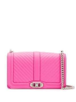 Rebecca Minkoff Chevron Quilted Love crossbody bag - PINK