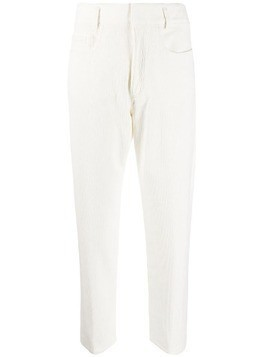 Haider Ackermann cropped corduroy trousers - White
