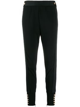 Edward Achour Paris slim-fit button detail pants - Black
