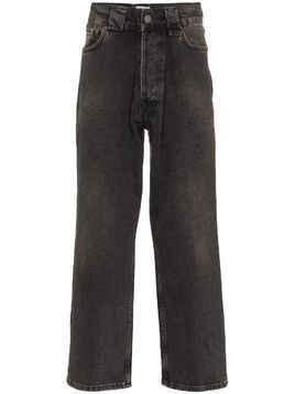 Willy Chavarria faded-effect straight-leg jeans - Black