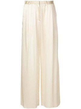 Dusan wide leg long trousers - White