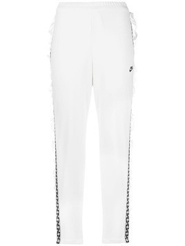 Nike high-waisted track trousers - White