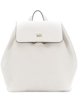 Michael Michael Kors logo plaque backpack - White