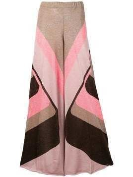 Circus Hotel shiny palazzo trousers - Pink