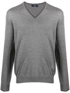 Fay v-neck jumper - Grey