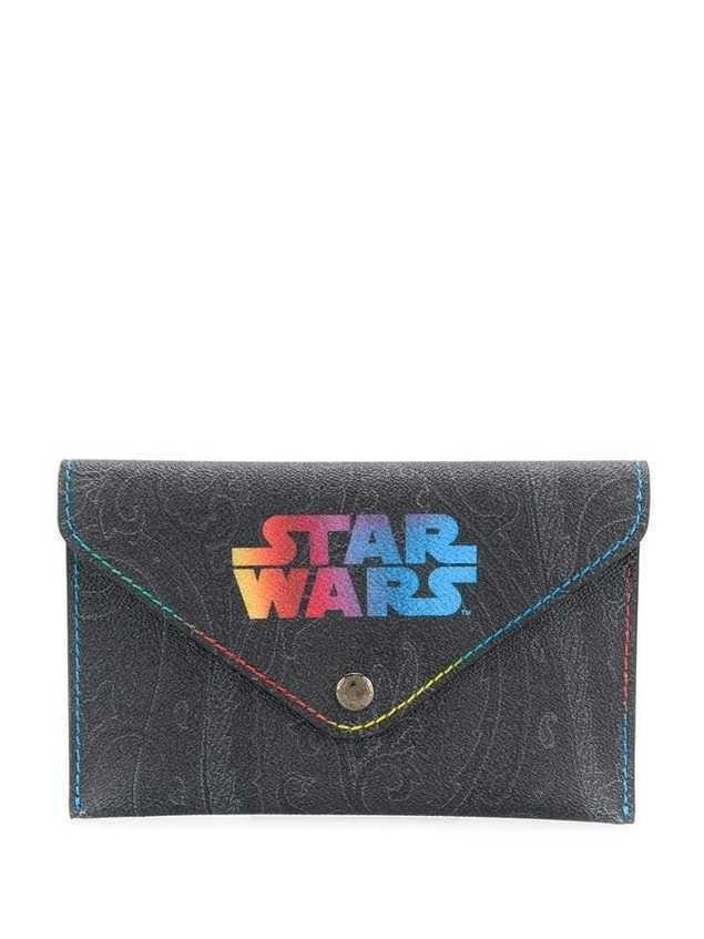Etro printed Star Wars clutch bag - Black