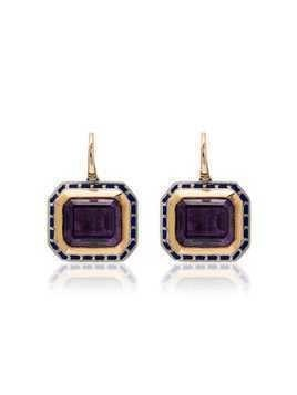 Alice Cicolini 14k yellow gold Tile amethyst and silver earrings - Multicoloured