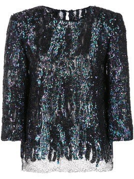 Haney Anja sequined blouse - Blue