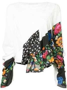 3.1 Phillip Lim Ruffle-Layered Floral Blouse - White