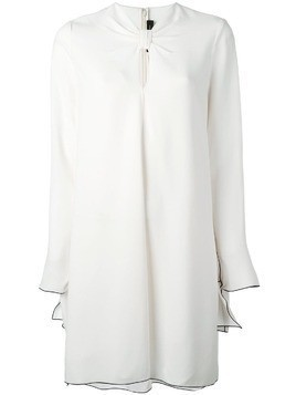 Proenza Schouler knotted front shift dress - White