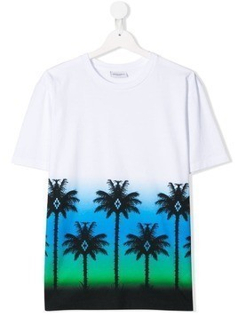 Marcelo Burlon County Of Milan Kids TEEN Palms print T-shirt - White