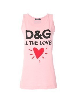 Dolce&Gabbana All The Lovers tank top - Pink&Purple