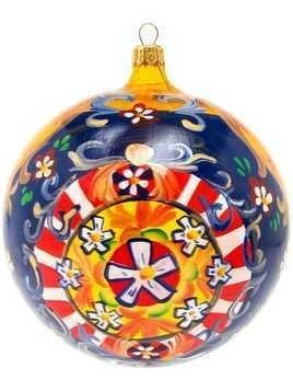 Dolce & Gabbana painted floral Christmas bauble - Multicolour