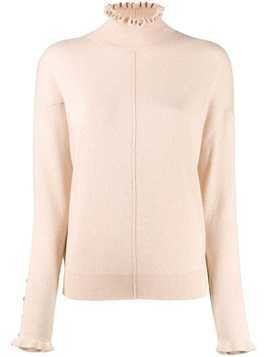 Chloé turtleneck ruffle sweater - Pink