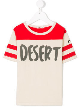 Bandy Button desert print T-shirt - Neutrals