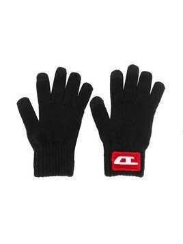 Diesel Kids 90s logo gloves - Black