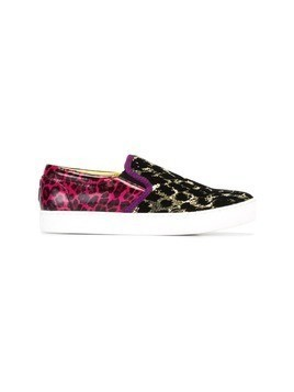 Marc Jacobs leopard print slip-on sneakers - Multicolour