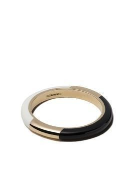 Alice Cicolini 14kt yellow gold Candy band - BLACK & WHITE