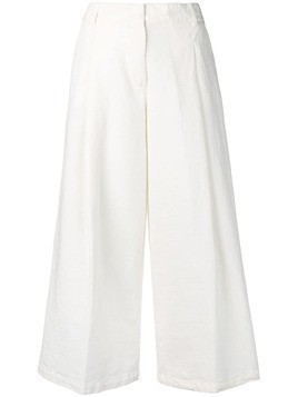 Kiltie loose-fitting trousers - White