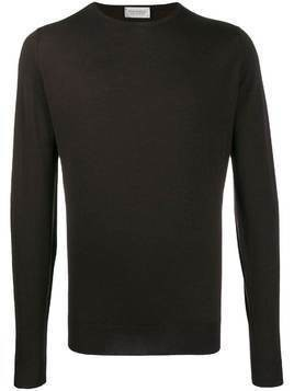 John Smedley Lundy crew neck sweater - Brown