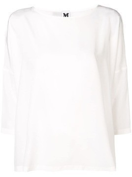 M Missoni cropped sleeve blouse - White