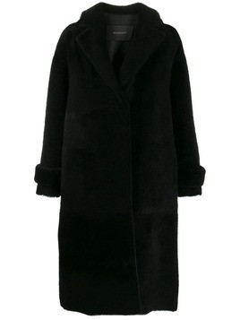 Blancha shearling midi coat - Black
