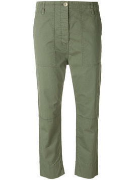 Theory cropped spring cargo trousers - Green