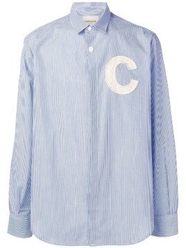 Corelate embroidered C striped shirt - Blue