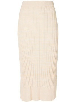 Jil Sander Navy ribbed pencil skirt - Neutrals