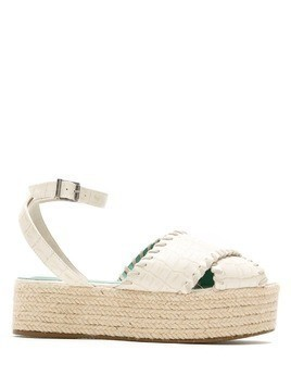 Blue Bird Shoes Cruzada crocodile effect espadrilles - White