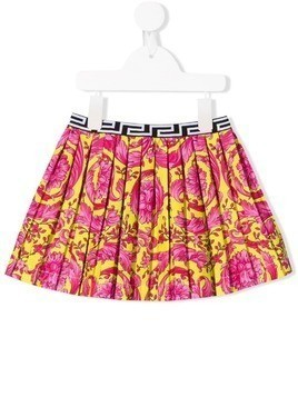 Young Versace pleated mini skirt - PINK