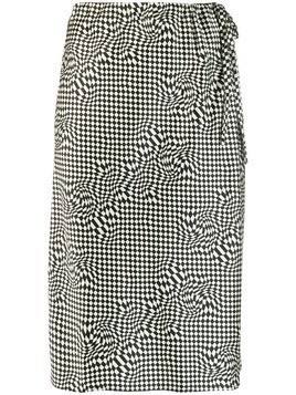 6397 checked skirt - Black