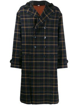 Gucci checked duffle coat - Blue