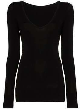 Fusalp Troop II V-neck ski base top - Black