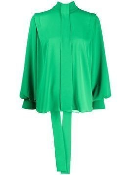 Emilia Wickstead Brunhilda pussy-bow blouse - Green