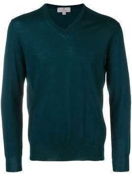 Canali V-neck sweater - Blue