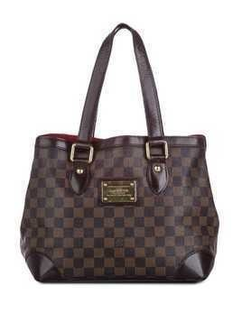 Louis Vuitton 2008 pre-owned Damier Ebene Hampstead PM tote - Brown