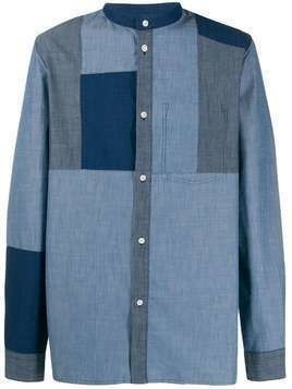 A.P.C. Marius geometric-panel shirt - Blue