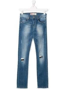Levi's Kids distressed slim-fit jeans - Blue