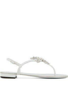Giuseppe Zanotti New Butterfly leather sandals - White