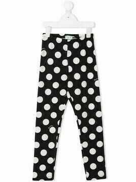 Monnalisa polka dot trousers - Black